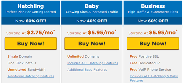 Hostgator Prices